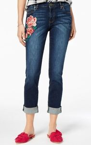 KUT FROM THE KLOTH SIZE 12 PETIT EMBROIDERED JEANS